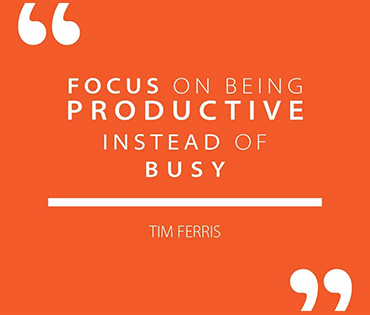 Focus on being Productive