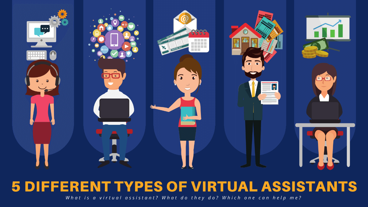 5 types of different virtual assistant